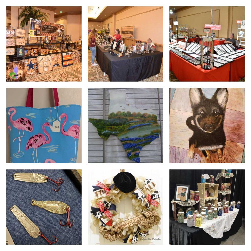 The Corvette Chevy Expo also features 135 craft vendors in the Galveston Craft Show.  The local area's finest artists and craftsmen showcase their incredible talents and techniques. All the items for sale are handmade!