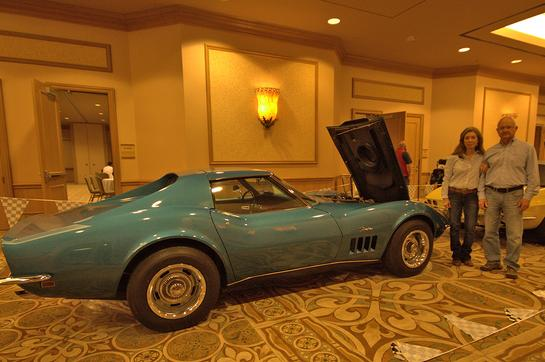 Guy & Helen MayBee received their Tri-Power Award for their 1969 Corvette.