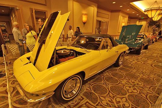 Richard Hudson received his Tri-Power Award for their 1967 Corvette.