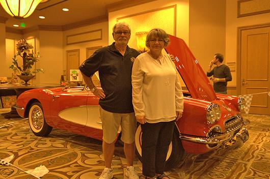 Tom and Deb DeBold received his Tri-Power Award for their 1960 Corvette.