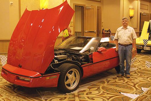 William Folse received his Tri-Power Award for his 1988 Corvette.