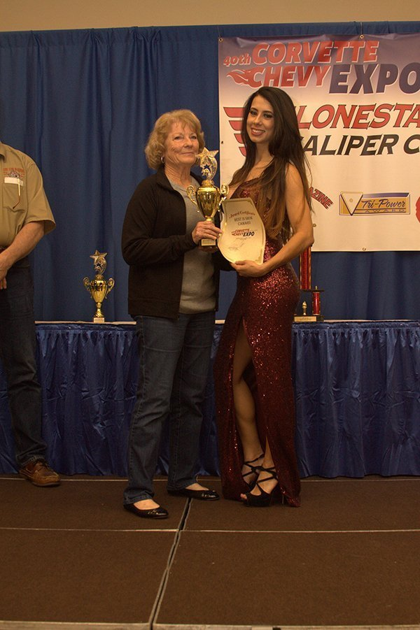 Awards Ceremony at the Chevrolet Show Cars, held at the Galveston Island Convention Center March 11, 2018. BEST OF SHOW CAMARO went to Doyle & Beverly Vinson with their 1969 Camaro Stock.