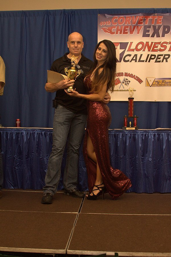 Awards Ceremony at the Chevrolet Show Cars, held at the Galveston Island Convention Center March 11, 2018. BEST OF SHOW CHEVY went to Mary Jane Vaught, 1955 Chevy Modified Full Size. The builder accepted the award for Mary Jane.