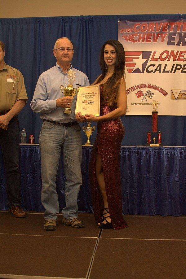 Awards Ceremony at the Chevrolet Show Cars, held at the Galveston Island Convention Center March 11, 2018. BEST OF SHOW CORVETTE went to Guy Mabee with his 1969 Corvette Stock.
