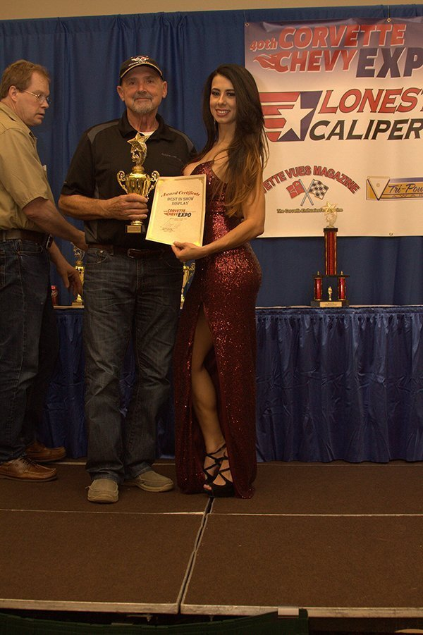 Awards Ceremony at the Chevrolet Show Cars, held at the Galveston Island Convention Center March 11, 2018. BEST OF SHOW DISPLAY went to Eddie Harvey with his 1964 Corvette Custom.