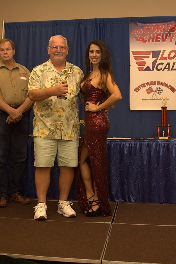 Awards Ceremony at the Chevrolet Show Cars, held at the Galveston Island Convention Center March 11, 2018. MINI CAR AWARD went to Steve Henderson with his 1958 Speedway quarter Midget resto mod.