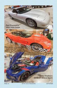 Vette Vues Magazine coverage of the 2018 Corvette Chevy Expo held at the Galveston Island Convention Center, in Galveston Texas.