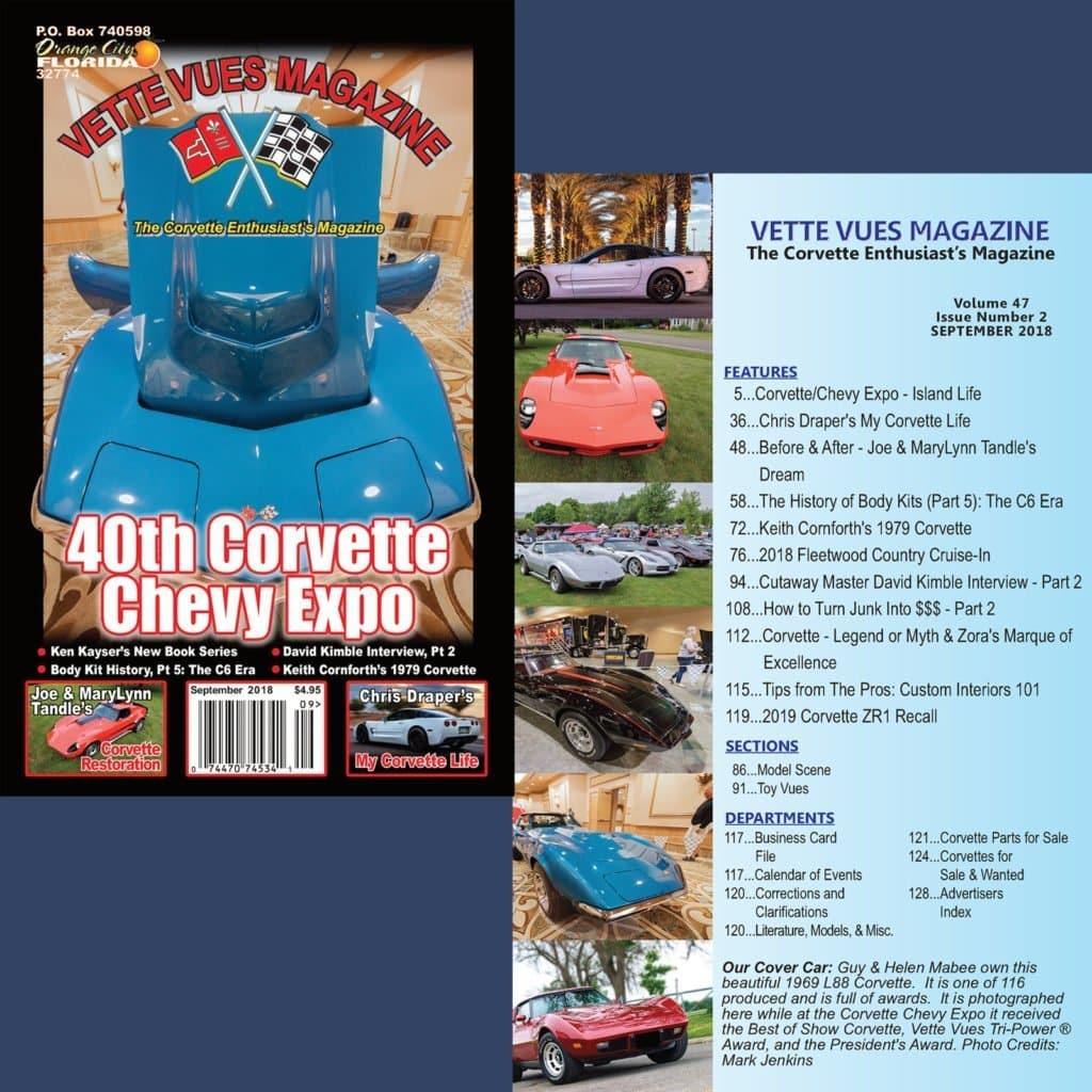 Vette Vues Magazine Event Coverage of the 40th Corvette Chevy Expo 2018