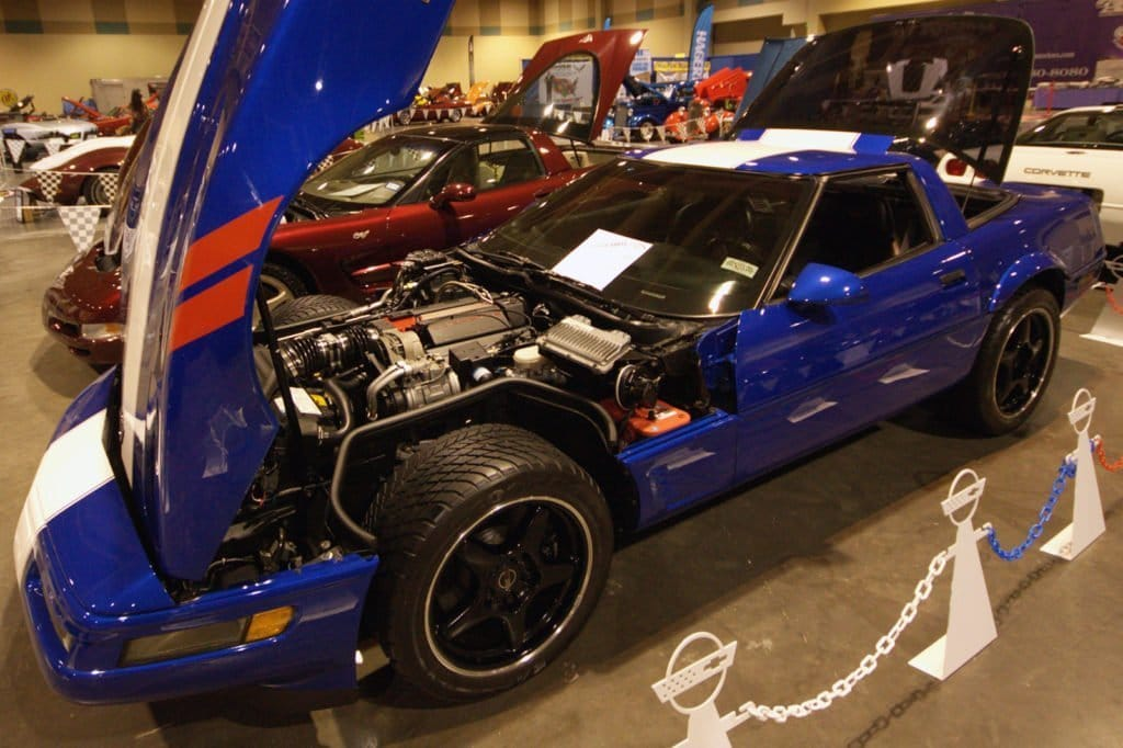 Bobby Sanford's 1996 C4 Corvette Grand Sport on display at the 2018 Corvette Chevy Expo held at the Galveston Island Convention Center.