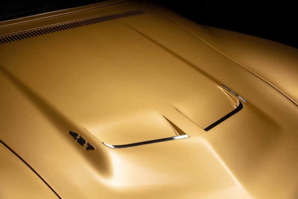 Front view of the 1969 Corvette 427 Big-Block Hood on Alan Bean's Astrovette Corvette. Photo Credit: Historic Vehicle Association