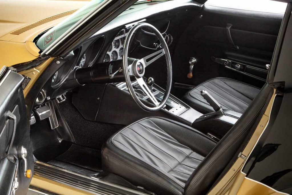 1969 Corvette driver's side interior on the Astrovette Corvette. Photo Credit: Historic Vehicle Association