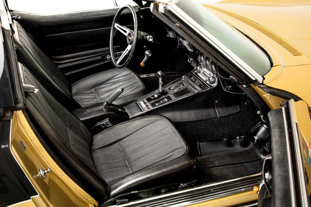 Passenger's side interior on the Astrovette Corvette. Photo Credit: Historic Vehicle Association