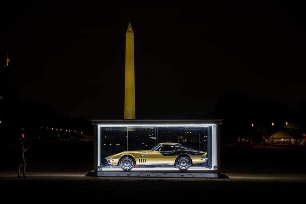 The Astrovette on the National Mall in Washington DC. Photo Credits: Historic Vehicle Association