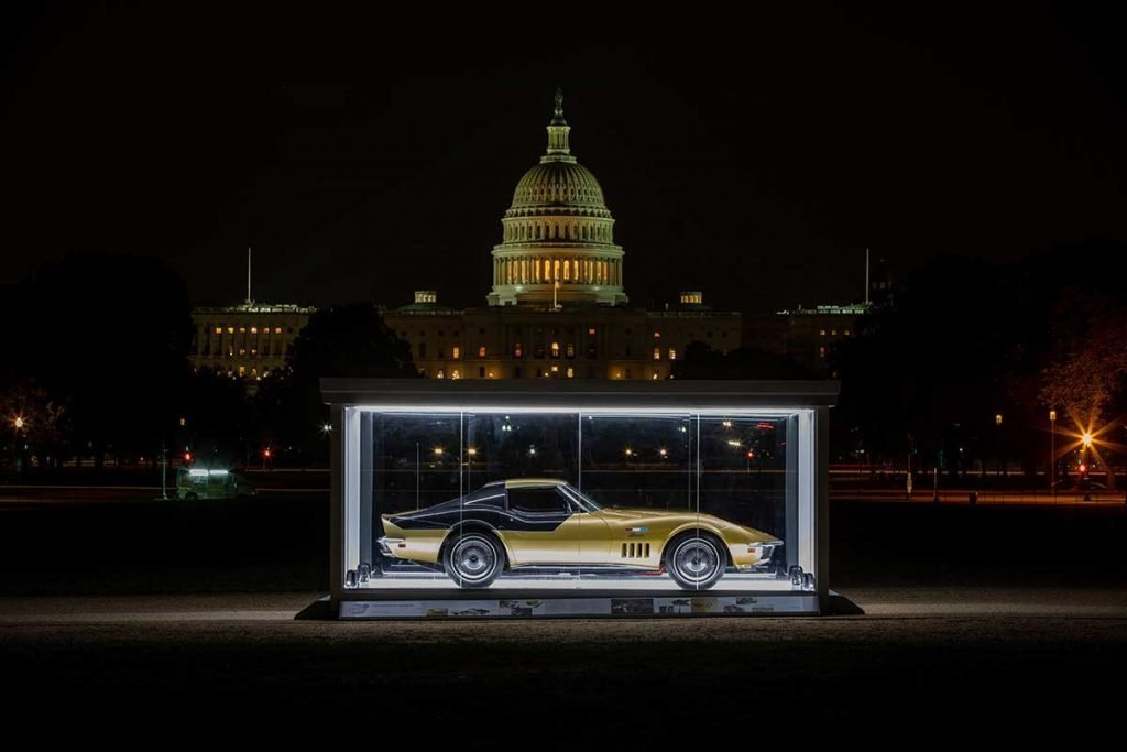 Alan Bean's 1969 Astrovette in the Cars at the Capital exhibit on the National Mall in Washington DC. The Apollo 12 Corvette was displayed from September 12th through September 19, 2019. Photo Credits: Historic Vehicle Association