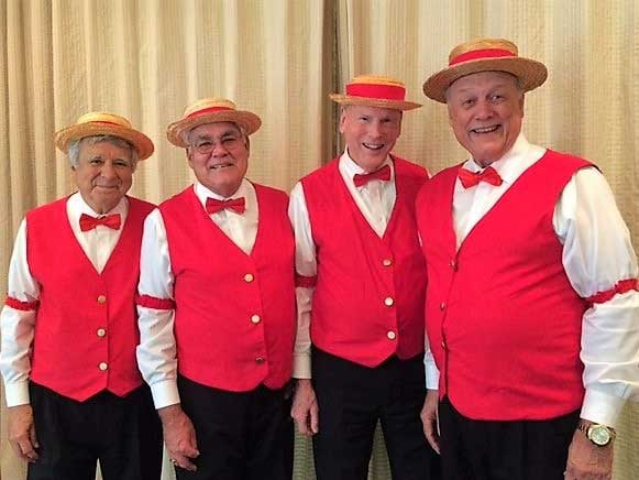 Sunday, March 15, 2020, at 1 PM, the Grandmas' Boyfriends Barbershop Quartet will be performing upstairs at the Corvette Chevy Expo held at the Galveston Island Convention Center.