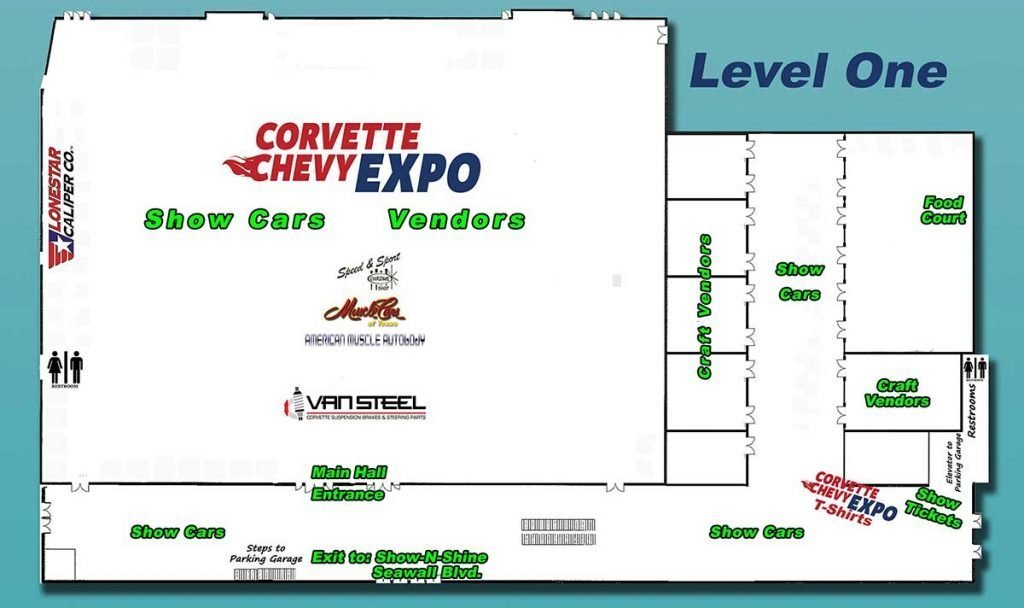 Level One Map for the Corvette Chevy Expo