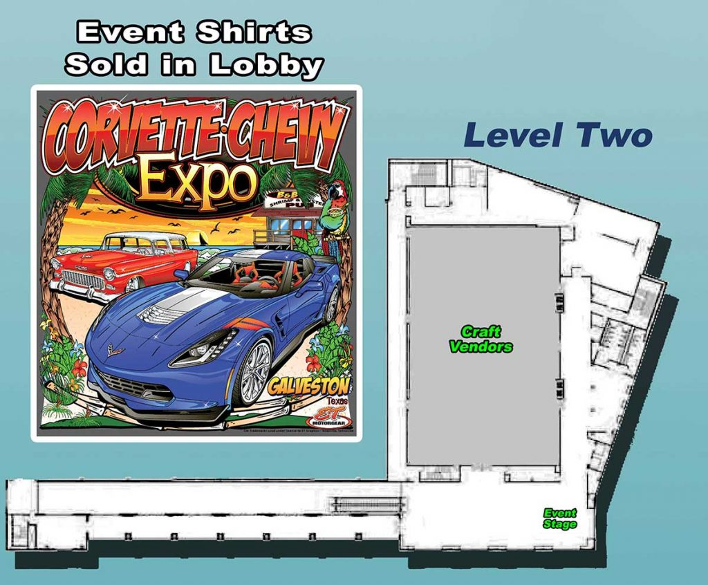 Level Two Map for the Corvette Chevy Expo