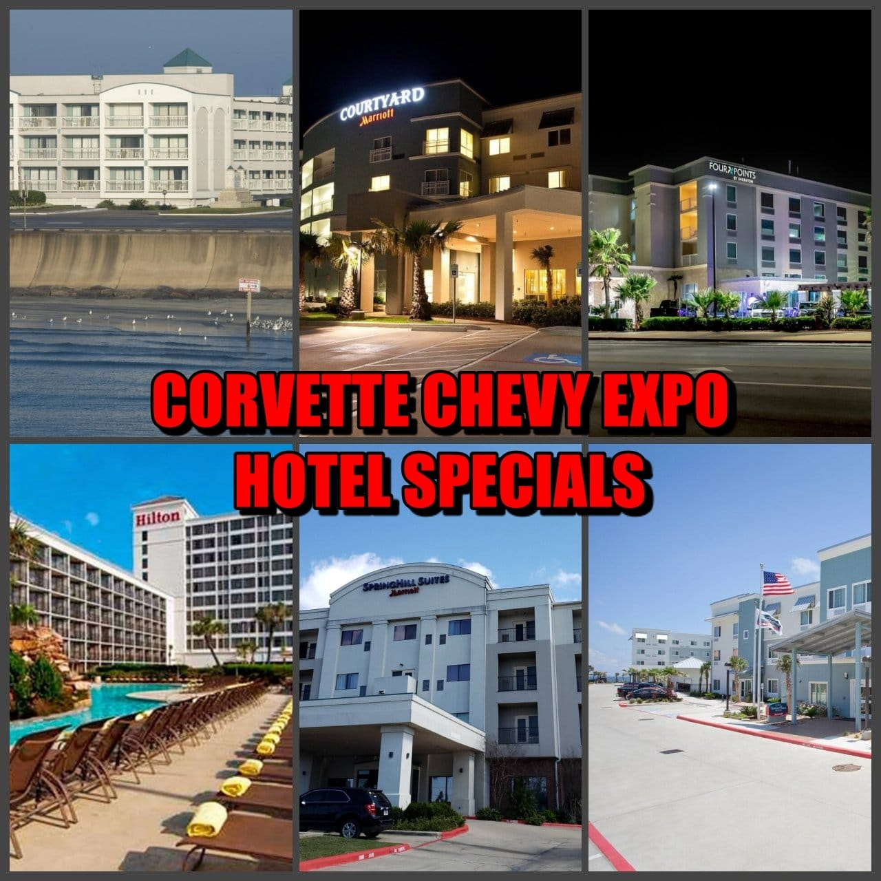 CORVETTE CHEVY EXPO HOTEL SPECIALS