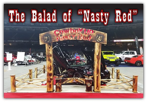 "Cowboy Up - Show Car Display featuring Roger ""Red"" Eldor and Paula ""Trigger"" Lawson-Eldor's 2009 Corvette"