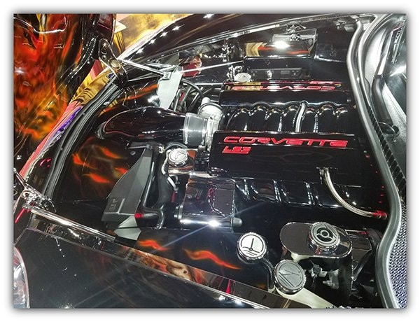 Red's 430-horsepower LS3 engine received Kooks Long-Tube Headers' and B&B Billy Boat cat-backs and exhaust tips installed by PowerFab, in Spring, Texas.