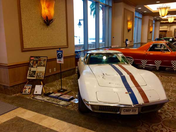 Worden's car was featured and displayed as a Barn Find at the 2018 Galveston Corvette/Chevy Expo across Bean's totally restored Corvette.
