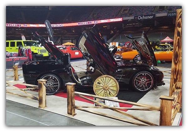 "Passenger Side View: Roger ""Red"" Eldor and Paula ""Trigger"" Lawson-Eldor's 2009 Corvette"