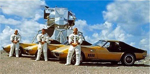 Apollo 12 Crew ordered matching Gold & Black 1969 Corvettes.